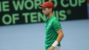 Андреев: Във втория сет загубих концентрация, той започна да играе страхотен тенис