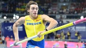 Дуплантис отново безапелационен – шампион с рекорд на европейските първенства