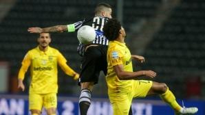 Арис изпусна победата в солунското дерби срещу ПАОК