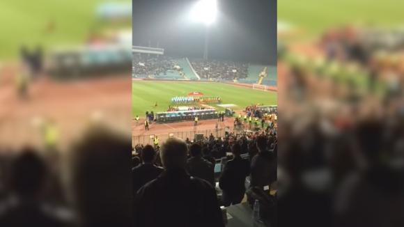 """Българският химн на стадион """"Васил Левски"""" срещу Холандия"""