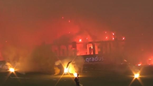 Пожар в Бургас на предишния финал Лудогорец - Ботев