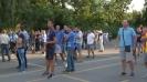 Феновете на Левски гледат на видеостена мача с Хайдук