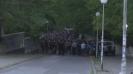 Шествието на феновете на Левски преди мача с Пирин