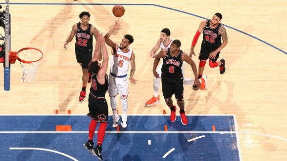 Ню Йорк Никс победи Чикаго Булс в Медисън Скуеър Гардън