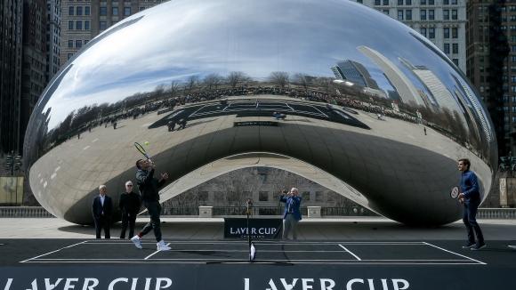 """Федерер промотира второто издание на """"Лейвър къп"""" в Чикаго"""