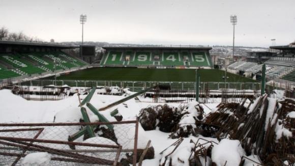 Ето до къде е стигнал строежът на новата трибуна на стадиона в Разград