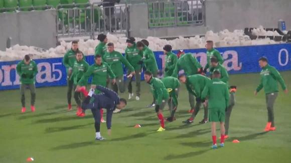 Националите загряха преди мача с Босна и Херцеговина