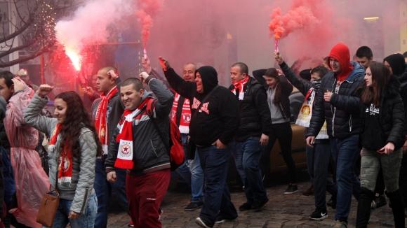 Червените фенове надъхаха ЦСКА-София преди мача за Купата