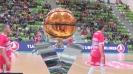 Загрявка преди баскетболното шоу в Ботевград