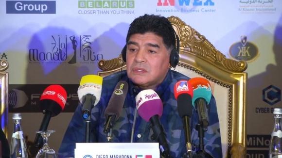 Марадона бе представен като шеф в Динамо Брест