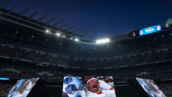 Емоцията по трибуните по време на финала на Шампионската лига