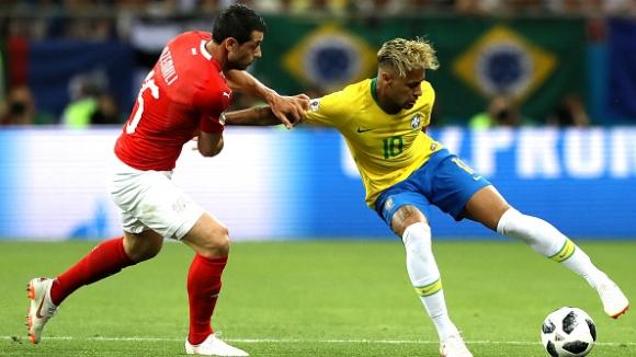 "И Бразилия сгреши на старта - Швейцария спря Неймар и ""селесао"""