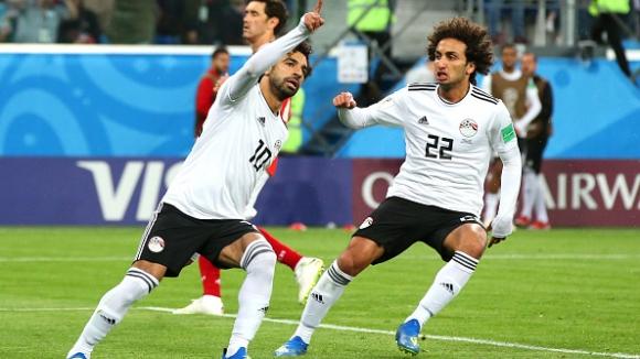 Мо Салах върна един гол за Египет в мача с Русия