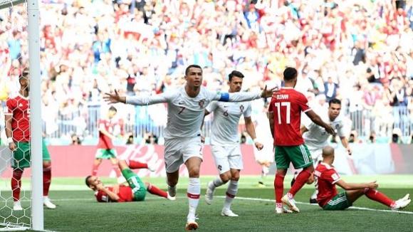 Роналдо измъкна Португалия срещу Мароко