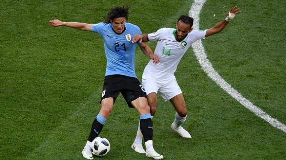 Суарес прати Уругвай в следващата фаза с единствен гол срещу Саудитска Арабия