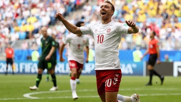 Феноменален гол на Ериксен за Дания срещу Австралия