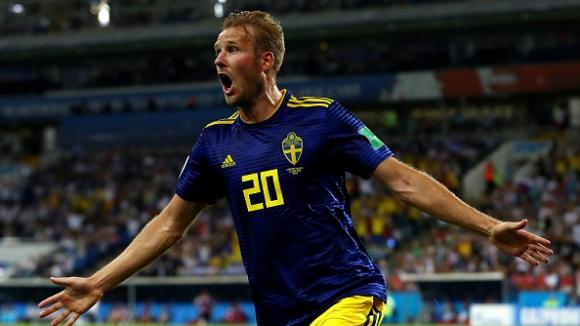 Ола Тойвонен откри резултата за Швеция срещу Германия