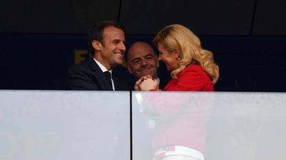 Президентът на Хърватия Колинда Грабар-Китарович поздрави Еманюел Макрон за титлата на Франция
