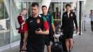 Националите се прибраха след победата над Словения