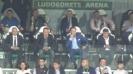 Братя Домусчиеви в ложата за мача с отбора от Леверкузен