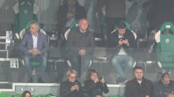 Спас Русев на трибуните за дербито с Лудогорец