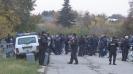 Много полиция около сектора за гости в Разград