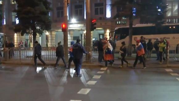 Словенските фенове пристигат на Националния стадион
