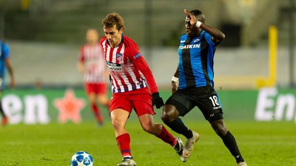 Атлетико разочарова срещу Брюж
