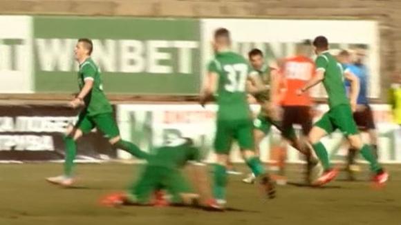 Валери Домовчийски даде аванс на Ботев (Враца) с първия гол за пролетния дял