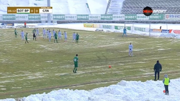 Керчев откри резултата за Ботев на лошия терен във Враца