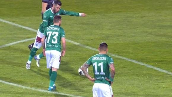 Педро Еуженио откри резултата за Берое след прекрасен изстрел от пряк свободен удар