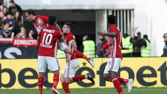 Тиаго открива резултата на Националния стадион след гол от фаул