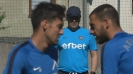 Сините тренират часове преди мача със Зенит
