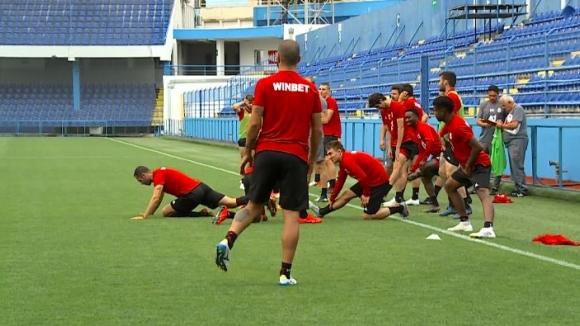 ЦСКА-София тренира в Подгорица преди сблъсъка с Титоград