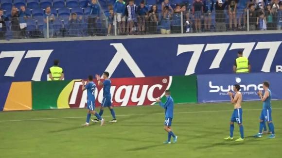 """Атмосферата на """"Герена"""" след категоричната победа на Левски с 3:0 над Черно море"""