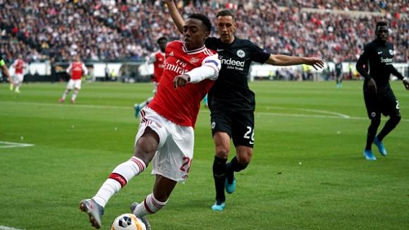 Уилок с ефектен гол откри резултата за Арсенал в гостуването срещу Айнтрахт Франкфурт