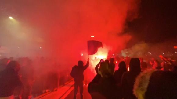 Уникално посрещане за футболистите на Аталанта след успеха в ШЛ
