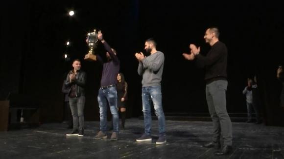 На сцената на Драматичния театър в Пловдив показаха титлата от сезон 2003/04
