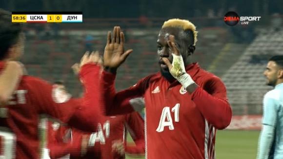 Али Соу бележи - 2:0 за ЦСКА-София срещу Дунав