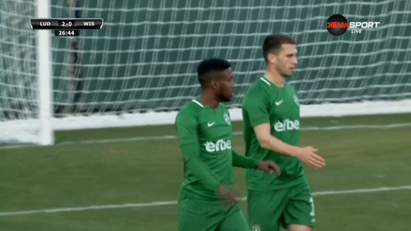 Тауата вкара втория гол за Лудогорец в мача след красива комбинация с Шверчок