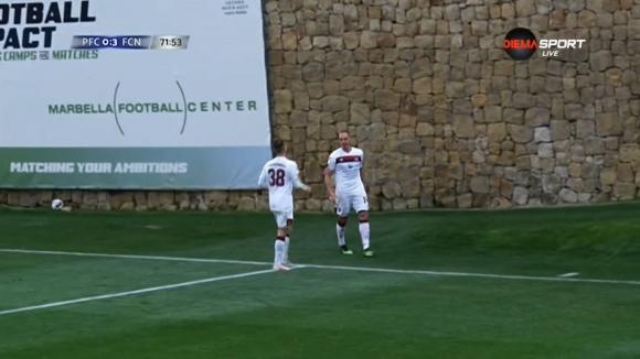 Михаел Фрай вкара четвъртия гол за Нюрнберг срещу ЦСКА-София