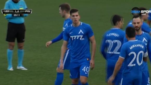 Спиерингс с първи гол за Левски, откри срещу Пюник