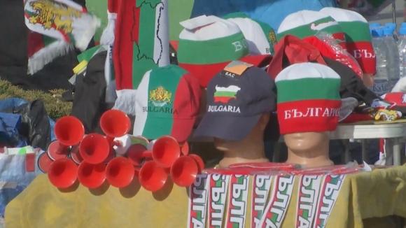 Атмосферата около националния стадион преди България - Беларус