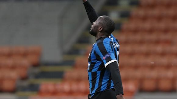 Лукаку с късен гол в края на полувремето изведе Интер напред срещу Лудогорец