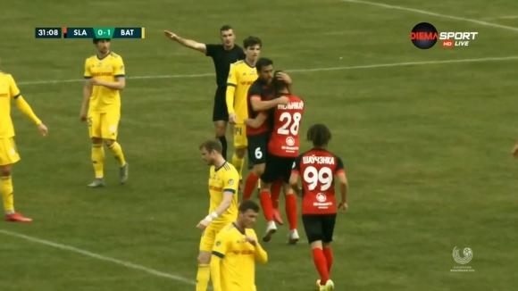Никита Мелников от Славия направи резултата в мача 1:1
