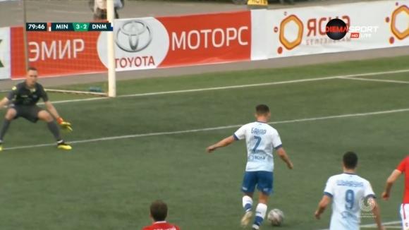 Динамо върна интригата в мача срещу Минск след гол на Бахар