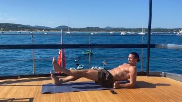 Ибрахимович тренира здраво на яхта