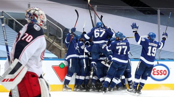 Тампа Бей и Кълъмбъс изиграха четвъртия най-дълъг мач в историята на НХЛ
