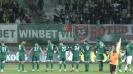Играчи и фенове на Ботев (Враца) тържествуват след победата над Монтана
