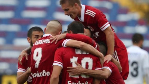 Втори гол на Камбуров срещу Славия, този път от дузпа